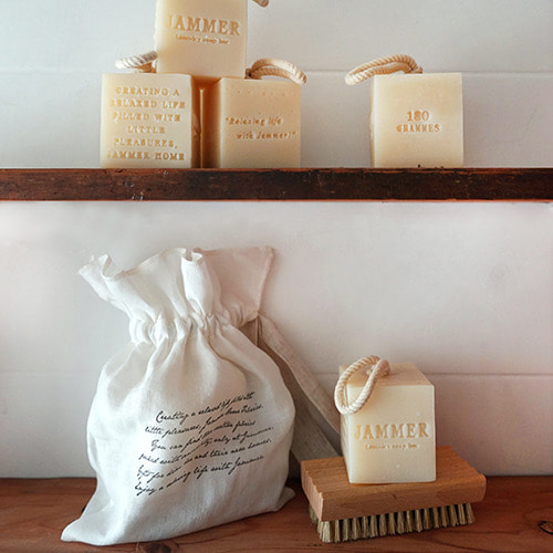 JAMMER laundry bar+soap plate+linen pouch SET