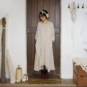 Shirr collar dress
